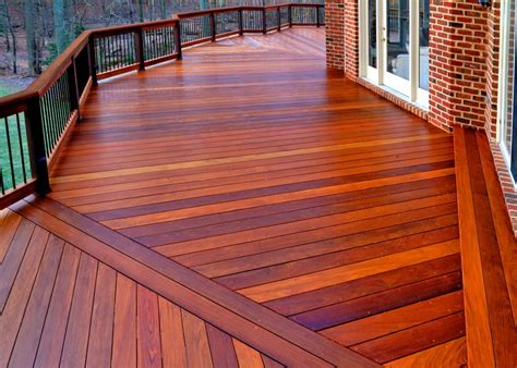 patio material options wood and synthetic decks in northern virginia maryland and washington