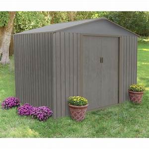 abri de jardin metal 472m2 imitation bois vieilli With abri de jardin metal imitation bois