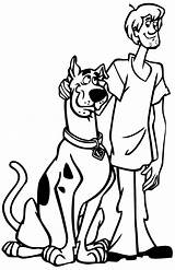 Scooby Doo Coloring Pages Characters Tv sketch template