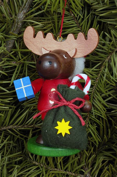 Tree Ornament Moose Santa (9,5cm4in) By Christian Ulbricht