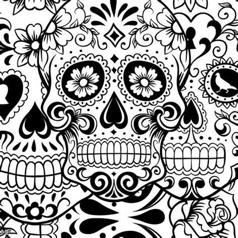 day   dead  de los muertos sugar skull coloring