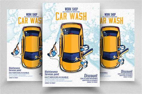 Customize it in our editor. Car Wash Service Flyer / Poster Template By Designhub ...