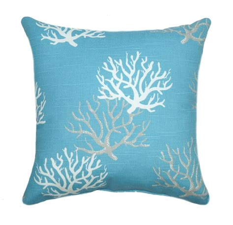 coastal throw pillows premier prints isadella coral coastal blue decorative