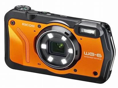 Ricoh Camera Wg Digital Orange Cameras Rugged