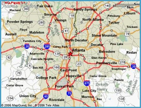 atlanta map travelsfinderscom