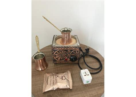 5 try / 0.87 usd #turkishcoffee #coffee. Turkish Copper Sand Coffee Machine Coffee Maker with 2 Coffee Pots and 250gr Turkish Coffee