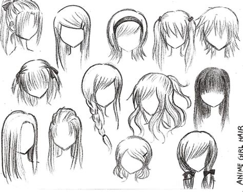 anime hairstyles   art anime character drawing