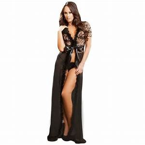 fashion sexy fur trim glam night lingerie robe costumes With robe glamour et sexy