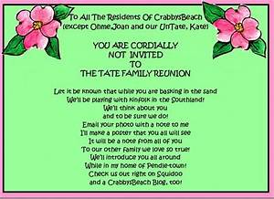 Family Reunion Party Invitations | Party Ideas