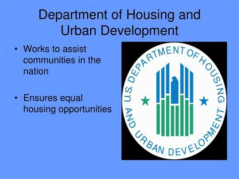 of housing and development ppt the president s cabinet powerpoint presentation id