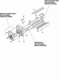 Ice Maker 61005508 Diagram  U0026 Parts List For Model 59676534500 Kenmore