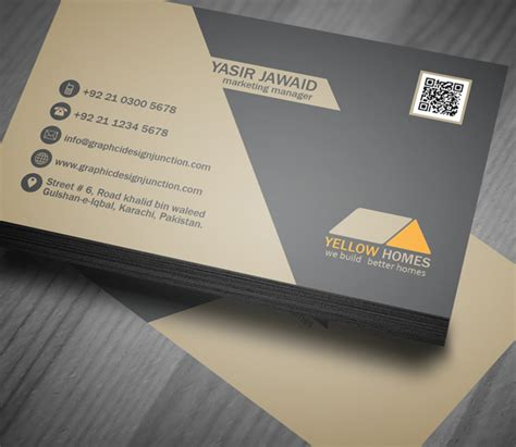 real estate business card template psd freebies