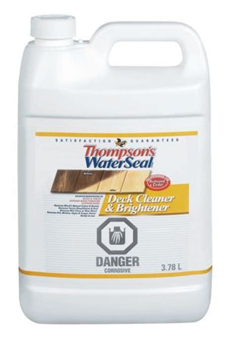 thompson s waterseal deck cleaner and brightener walmart ca