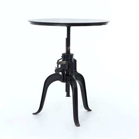 Rockwell Crank Adjustable Side Table  Industrial Home