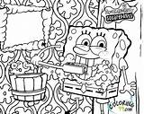 Spongebob Coloring Squarepants Printable Sponge Bob Patrick Krusty Krab Named Works Restaurant sketch template
