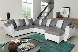 canape angle gris blanc idees de decoration interieure With canape gris blanc