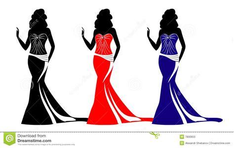 fashion silhouettes  purses stock  image