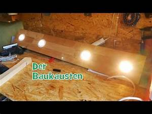 Led Deckenleuchte Werkstatt : beleuchtung lampe selber bauen led spots aus holz parkett laminat verkabelung parallel ~ Eleganceandgraceweddings.com Haus und Dekorationen
