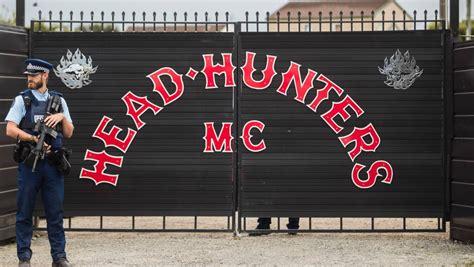 evidence  drug dealing  head hunters gang pad police