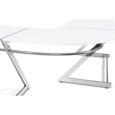 bureau en bois blanc bureau zigzag en bois blanc