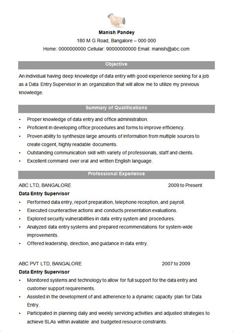 Resume Format by Microsoft Word Resume Template 99 Free Sles