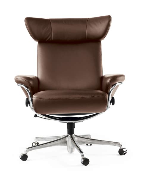 fauteuil bureaux fauteuil de bureau design marron stressless
