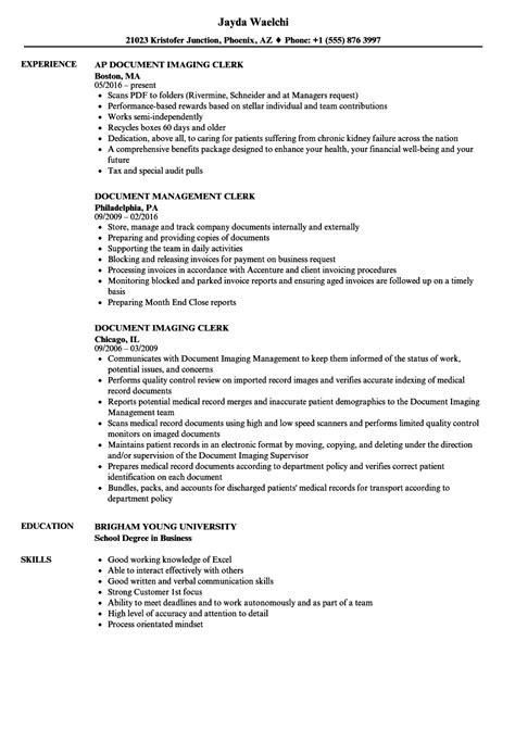 resume for document clerk document clerk resume sles velvet