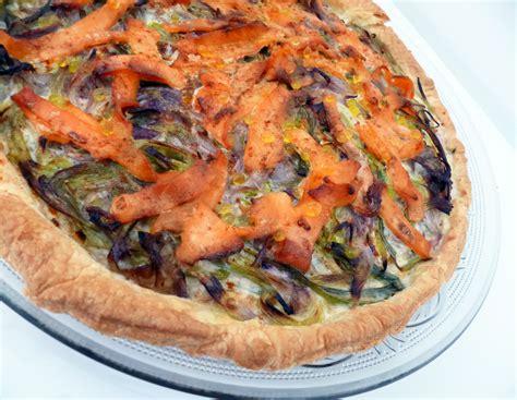 cuisiner la truite tarte à la truite fumée la recette facile par toqués 2
