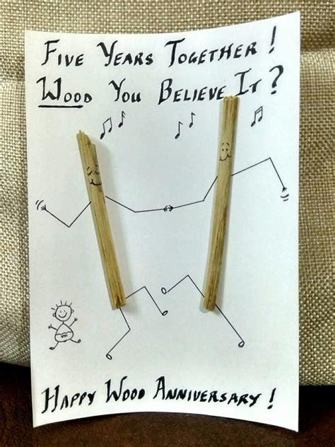 diy wood anniversary card  wedding anniversary card
