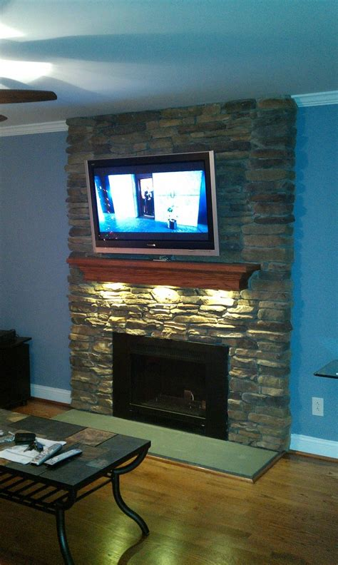 Lights Fireplace - led puck lights your fireplace mantel diy fireplace