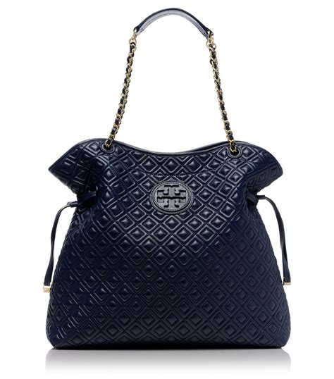 burch marion quilted slouchy tote burch marion quilted slouchy tote in blue lyst