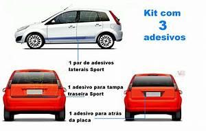 Kit Adesivo Faixa Lateral Fiesta Rocam Hatch Acess U00f3rios