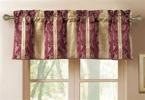 New Burgundy Gold Jacquard Striped Montero Window Tailored Bedroom Lighting Options Blue Lights Decorative Bathroom Pendant Over Kitchen Table Square Oil Rubbed Bronze Light Fixtures Ferguson Kitchens Baths And Images Of