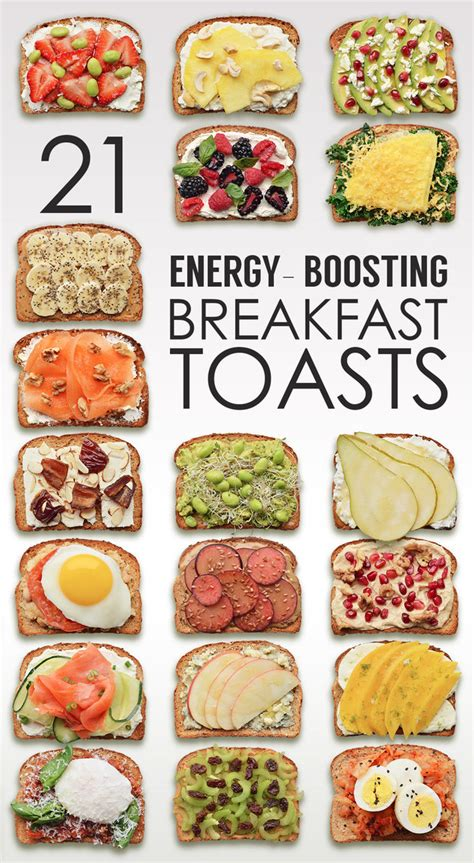 breakfast ideas 21 ideas for energy boosting breakfast toasts