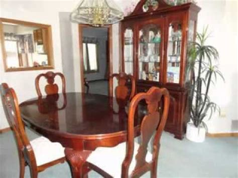 Cherry Wood Dining Room Set Youtube
