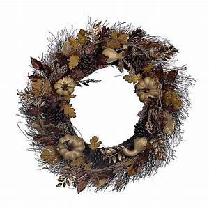 Golden Pumpkin Mix Wreath Kirklands