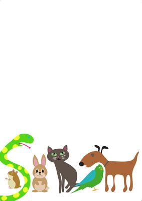 early learning resources pet themed notepaper