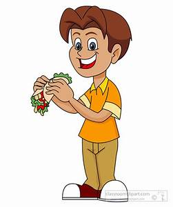 Boy Eating Food Clipart (66+)