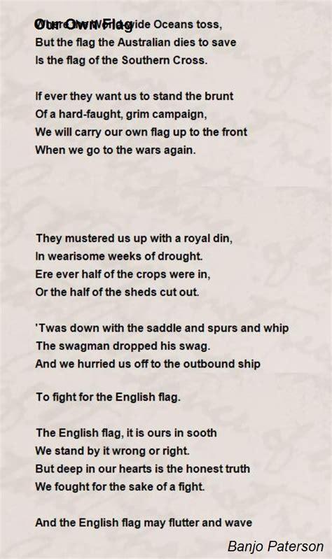 flag poem  banjo paterson poem hunter