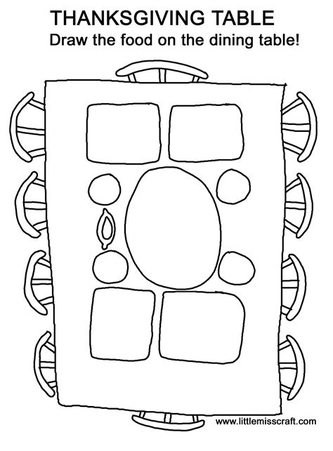 thanksgiving table coloring pages getcoloringpagescom
