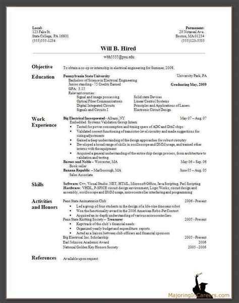 Images Of Resume Format Exles by Bisnis And Marketing A Sle Resume Your Own