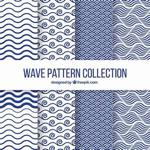 Set of four wave patterns in flat design Vector | Free ...