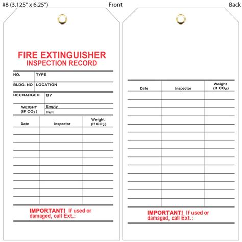 custom printed fire extinguisher hang tags st louis tag