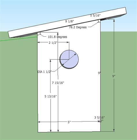 sparrow bird house plans sparrow resistant bluebird house