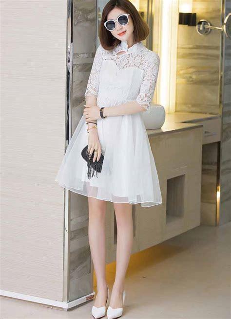 dress kombinasi brokat chiffon cantik elegant toko baju