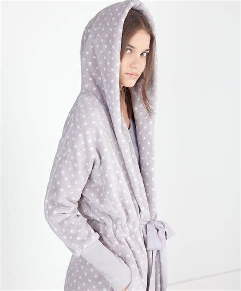 robe de chambre polaire robe de chambre polaire capuche pois oysho пушистики