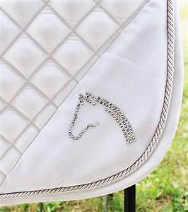 Horse Quilted ENGLISH SADDLE PAD Tack Trail Riding White ...
