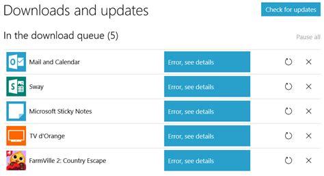 windows store updates fail with error 0x80073cf9