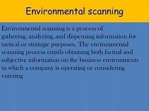 environmental scanning With environmental scan template