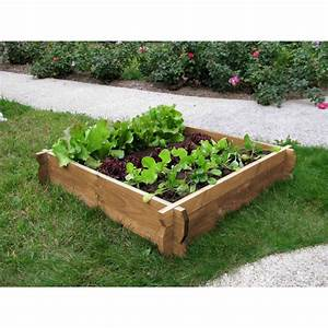 Carré Potager Gamm Vert : jardin potager en carr avec du bois non trait jardin ~ Dailycaller-alerts.com Idées de Décoration